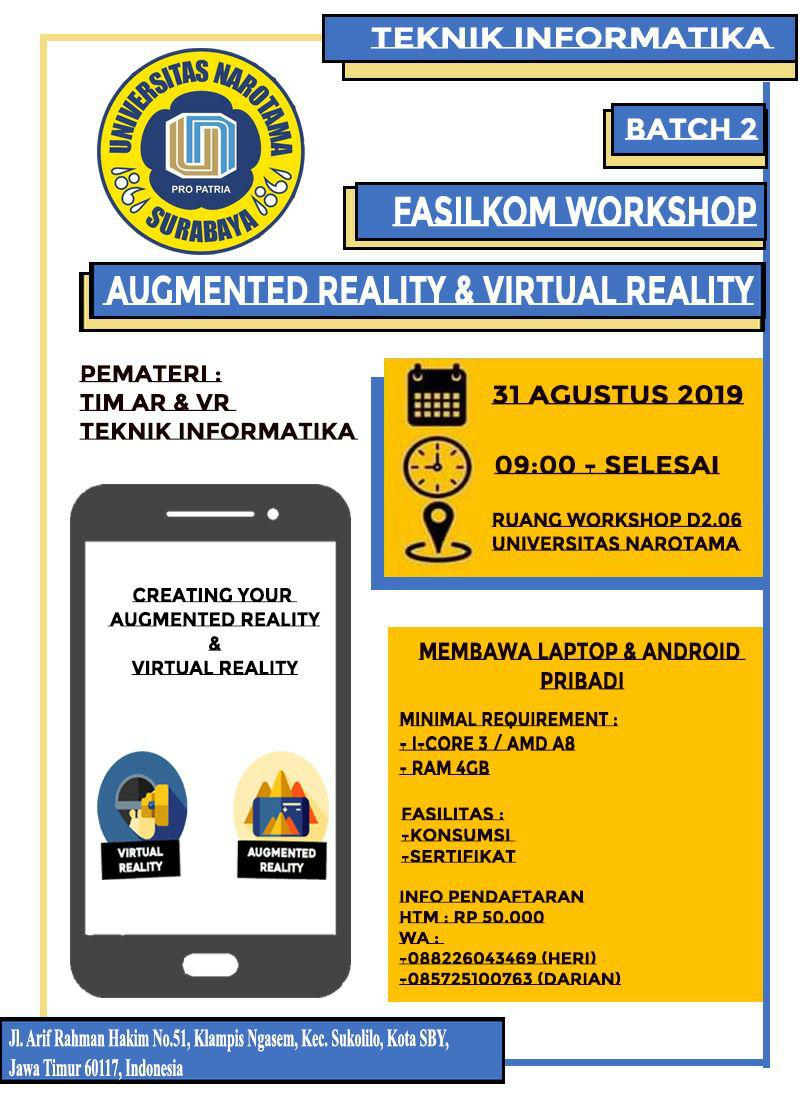 FASILKOM Present AR and VR WORKSHOP