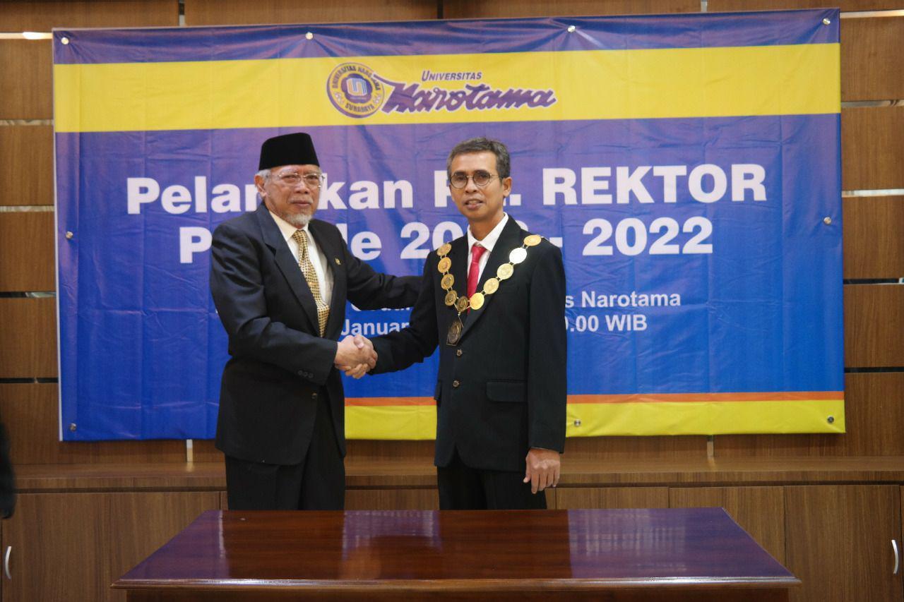 Pelantikan PLT Rektor Universitas Narotama Surabaya Periode 2020-2022
